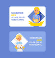 doctor business card doctoral woman vector image vector image