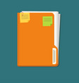 documents folder icon with paper sheets vector image