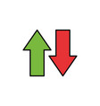 down up load data internet flat line style vector image
