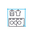 drying of linen linear icon concept drying of vector image