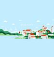 eco city urban landscape future town use vector image vector image