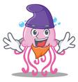 elf cute jellyfish character cartoon vector image