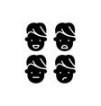 emotional intelligence black icon sign on vector image vector image