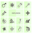 explosion icons vector image vector image