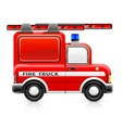 fire truck vector image vector image