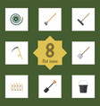 flat set of pail cutter spade and other vector image vector image