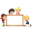 frame template with happy kid vector image vector image
