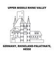 germany rhineland-palatinate hesse upper middle vector image vector image