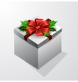 Gift box with bow vector image vector image