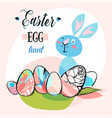 hand drawn abstract creative cute easter vector image vector image