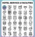 hotel service facilities vector image