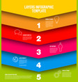 infographic layers template vector image
