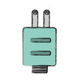 isolated ecologic electric plug vector image