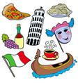 italian collection vector image