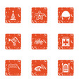jubilee icons set grunge style vector image vector image