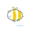 kawaii bee vector image