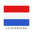 luxembourg flag vector image vector image