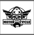 monochrome image on a motorcycle theme with vector image vector image
