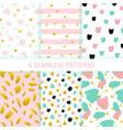 mothers day hipster trendy seamless patterns vector image