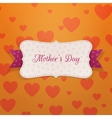 Mothers Day paper greeting Label vector image