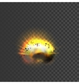 New realistic explosion icon vector image
