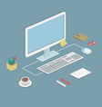 office workstation vector image vector image