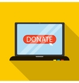 Online donation icon flat style vector image vector image