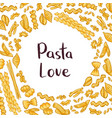 pasta elements background vector image vector image