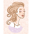 portrait of beautiful woman vector image