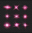 purple shine stars with glitters sparkles icons vector image vector image