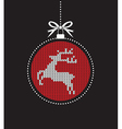 red ball balls knitted reindeer vector image vector image