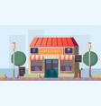 roadside cafeteria or road cafe building with menu vector image