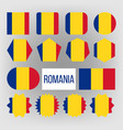 romania flag set official romania flag vector image