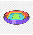 round stadium icon cartoon style vector image vector image