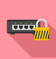 router protected icon flat style vector image vector image