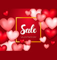 sale valentine day banner vector image vector image