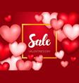sale valentine day banner vector image