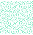 Seamless leaves pattern on white background vector image vector image