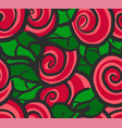 seamless pattern all red roses vector image vector image