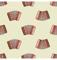 Seamless pattern with accordion vector image vector image