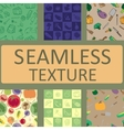 seamless texture vegetables and fruits set vector image