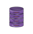 server hosting storage icon in color crayon vector image vector image