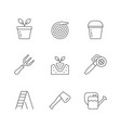 set line icons gardening vector image