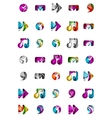 Set of abstract universal web icons business vector image