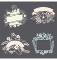 set of design elements with ribbons labels vector image vector image