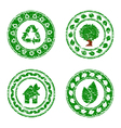 set of grunge eco stamps vector image vector image