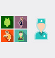 Set of medical icons mether with baby doctor and vector image