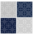 set of simple linear seamless patterns vector image