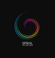 spiral logo round logotype design color swirl on vector image