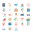 Summer and Holidays Colored Icons 1 vector image